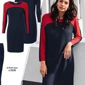 Элегантное платье из плотной джерси ткани с контрастными вставками Tchibo(германия) размер 36/38евро