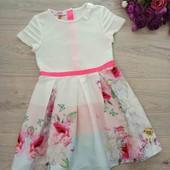 Обалденное комбинированное платьице,на девочку 4-5 лет