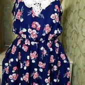 Очень красивое платье с вставками из дорогого кружева,S-M