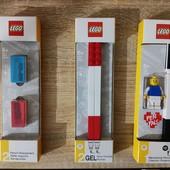 Оригинал LEGO точилки, гелевая ручка с минифигуркой черная, 2 красные