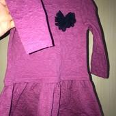 Красивое фактурное платье на возраст 12-18 месяцев