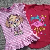 Яркие футболочки на девочку