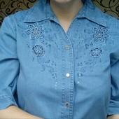 Джинсовая рубашка. Размер 52-54