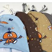 Симпатичная шапочка для мальчика, до года