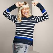 Стильный свитер в полоску с длинным рукавом от Tchibo(Германия), размеры наши: 58-60 (52/54 евро)