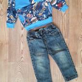 Фирменные джинсы +новый реглан!