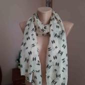 стильный шифоновый шарф шанель