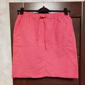 Фирменная новая красивая летняя юбка коттон+лён р.12-14