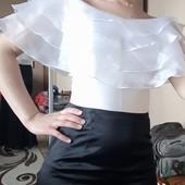 Розпродажа !!!Ексклюзивне вечірнє плаття із відкритими плечами, стан нового, 10% знижка на УП