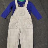 Комплект полукомбинезон и футболка на р 80- 86 см