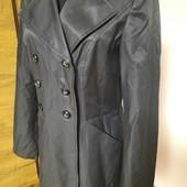 Плащ пальто на подкладке, 63% котон