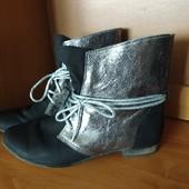 Италия нарядные кожаные ботинки 38р.