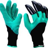 Садовые перчатки с когтями Garden Gloves green