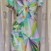 яркое трикотажное платье с утяжкой