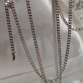 новинка! очень красивая и нежная цепочка, плетение панцирное 55 см, родий