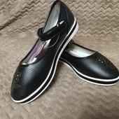 Качественные, стильные туфельки Tom.m37р. Кожаная стелька с супинатором