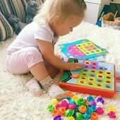 Набор для творчества Арт мозайка для малышей! аналог Alex США. на 45 фишек + 12 картинок .