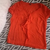 Легкая, приятная к телу вискозная блуза - футбоока S. Oliver. р. Xxl