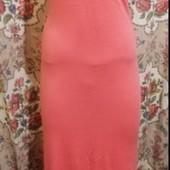 Очень красивое коралловое платье сарафан в пол!! Размер М/L