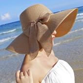 последняя!стильная шляпка с широкими полями с красивым бантом.цвет голубой.посл.фото.