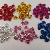 Розочки из металла 240шт, 6 цветов