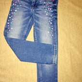Узкие зауженные джинсы для девочек