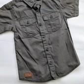 Стильная, хлопковая рубашечка George ( Англия) Размер 6-7 лет