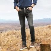 Стильные серые джинсы slim fit от livergy р.48