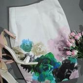 Шикарная юбка h&m размер eur 36 (s) карандаш цветы