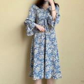 Стильное женственное легкое платье миди, цветочный принт. One size