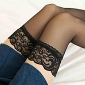 женские прозрачные сексуальные чулки кружевной верх