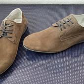 Туфли из натуральной замши (стелька 28см) San Marinа (нюанс)