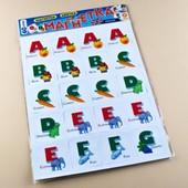 Аглийская азбука на магнитах.