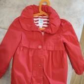 Куртка Old navy красная весна-осень на 3-5 лет