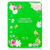 Тканевая увлажняющая маска для лица с экстрактом зеленого чая корея 23 мл