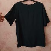 Красивая темно-зелёная блуза , приятная вискоза ! УП скидка 10%