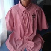 Мужская рубашка с коротким рукавом, р.3XL/4xl