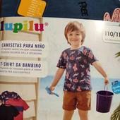 Лот с 3 котоновых футболок Lupilu 110/116