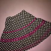 Вельветовая юбка в горошек на 2 года