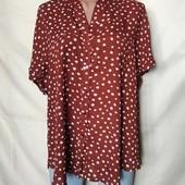 Терракотовая блузочка в горошек, грудь-118