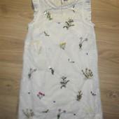 Нарядное платье Некст с вышивкой и выбивкой на 11лет рост 146
