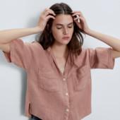 Лляна сорочка oversize Zara S