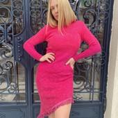 Распродажа! Вязаное платье-омбре. 4 модели