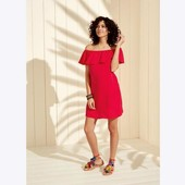Крутое платье с воланом от esmara р.44 евро. Единственное