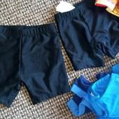 чорні класичні плавки-шортики для хлопчика 98-104 Бетмен