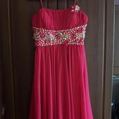 Шикарна шифонове плаття малинового кольору