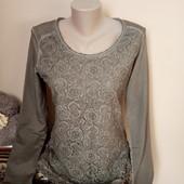 Гарна блузка із гіпюровою полочкою в ідеальному стані, 10% знижка на УП