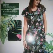 esmara.яркое хлопковое платье с карманами S36/38+6замеры