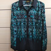 36-38р. Блузка-рубашка с купонным рисунком Bob Maskie