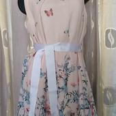 шифоновое платье с бабочками